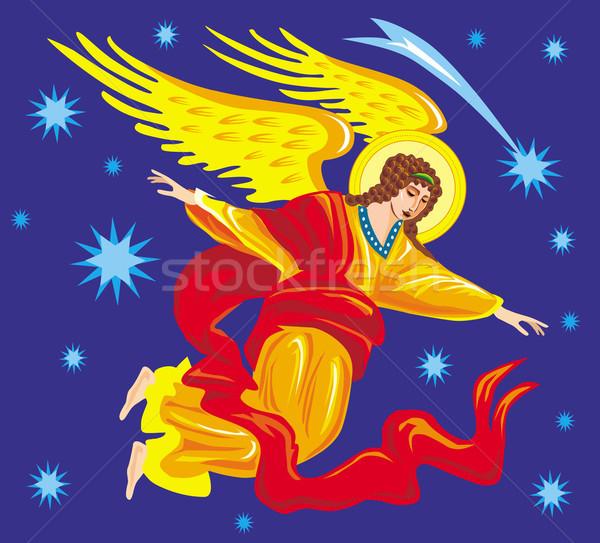 ангела Пасху небе звездой карт празднования Сток-фото © Wikki