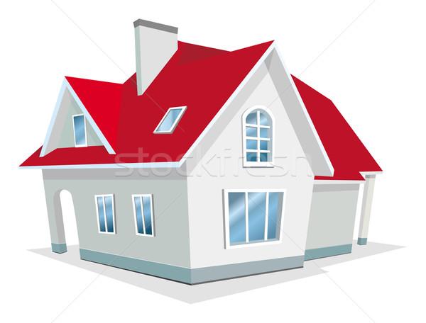 Huis gebouw bouw model home venster Stockfoto © Wikki