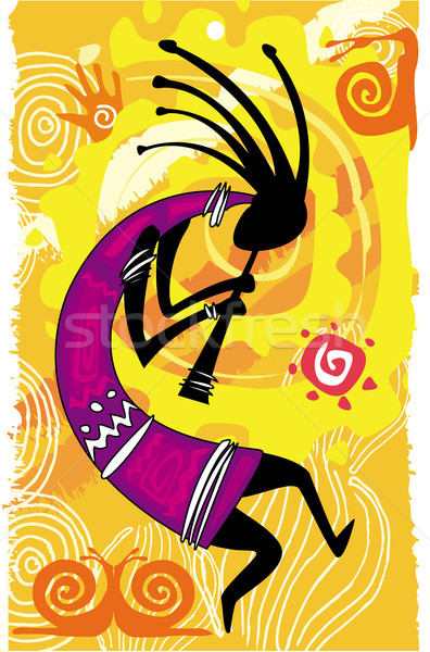 Dansen cijfer muziek partij abstract ontspannen Stockfoto © Wikki
