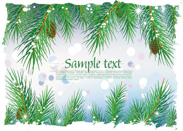 Framework from pine branches Stock photo © Wikki