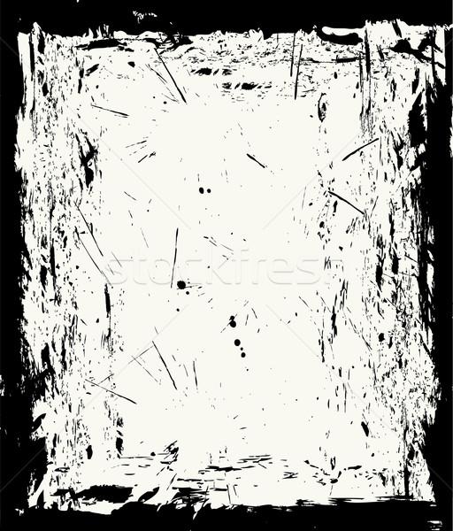 Vector grunge grens textuur achtergrond donkere Stockfoto © Wikki