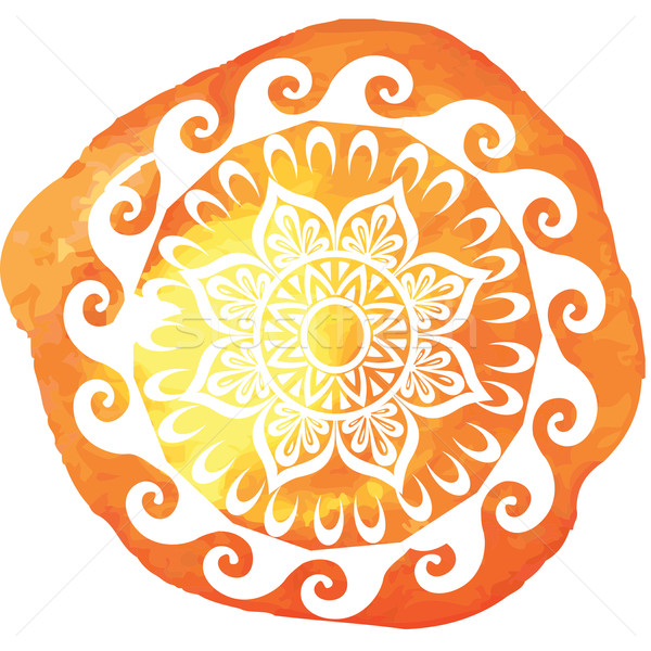 шаблон акварель дизайна краской фон силуэта Сток-фото © Wikki