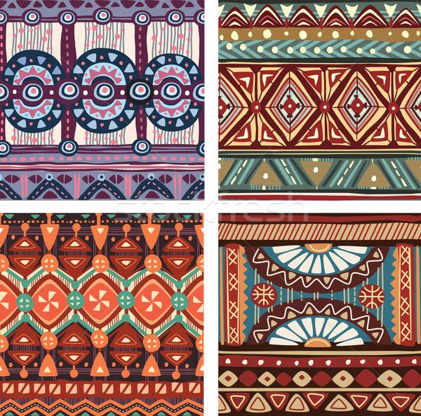 цвета бесшовный племенных текстуры моде дизайна Сток-фото © Wikki