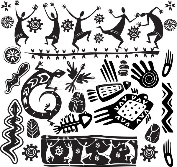 Primitive art design elements Stock photo © Wikki