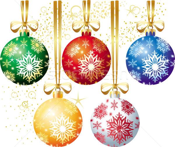 Рождества мяча дизайна цвета графических радости Сток-фото © Wikki