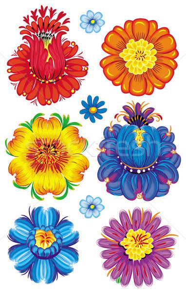 Stockfoto: Bloemen · blad · kunst · zomer · patroon · vakantie