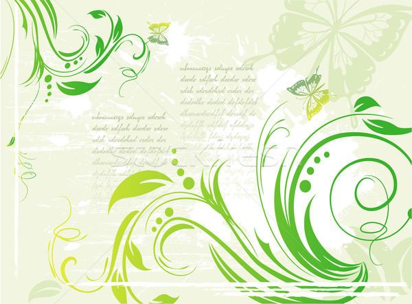 Stockfoto: Grunge · groene · element · ontwerp · achtergrond