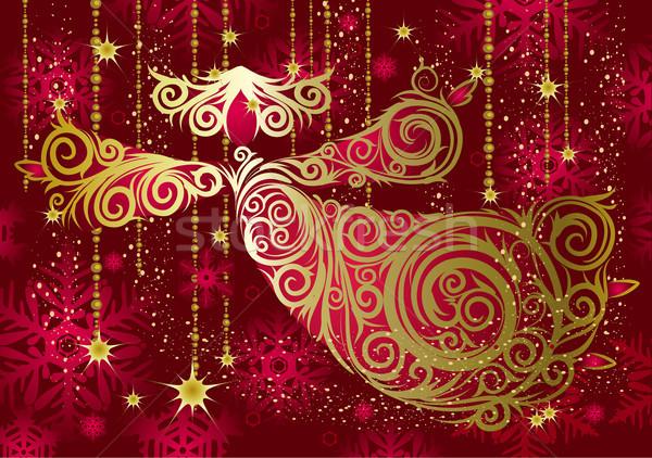 Christmas decoraties goud engel winter star Stockfoto © Wikki