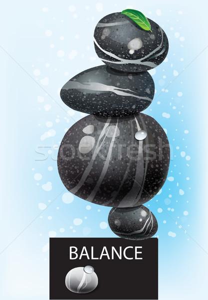 сбалансированный Spa мира белый ухода медитации Сток-фото © Wikki
