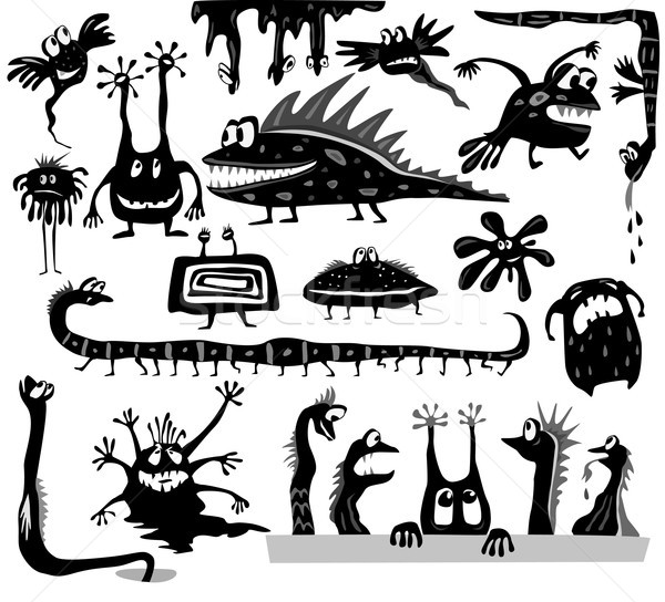 Set of cartoon monsters Stock photo © Wikki
