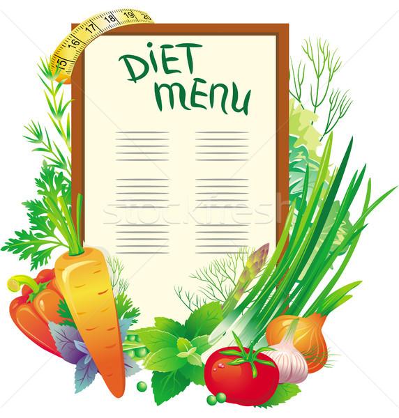 Dieet menu groep groenten licht groene Stockfoto © Wikki
