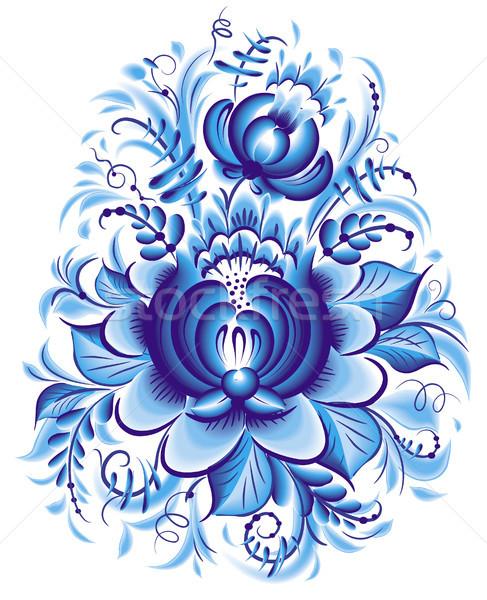 синий цветок стиль цветок искусства букет филиала Сток-фото © Wikki
