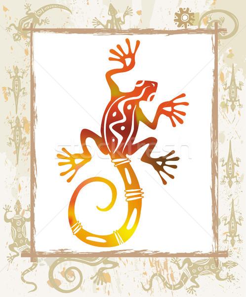 цвета ящерицы кадр природы границе племенных Сток-фото © Wikki