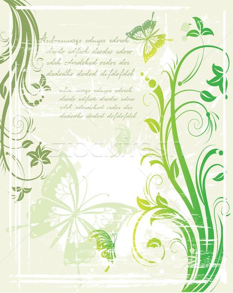 Vector grunge groene ontwerp achtergrond Stockfoto © Wikki