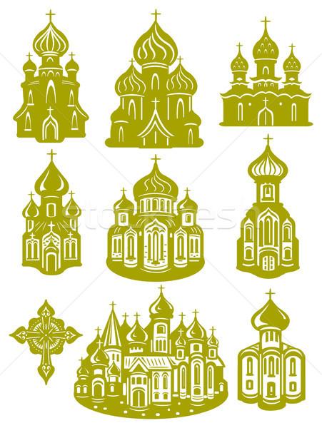 Iglesia ortodoxo casa edificio cruz castillo Foto stock © Wikki