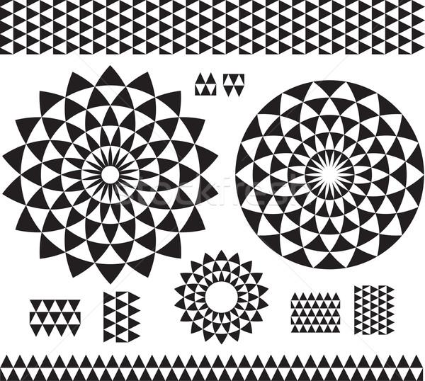 Round Ornament Pattern with pattern brash Stock photo © Wikki