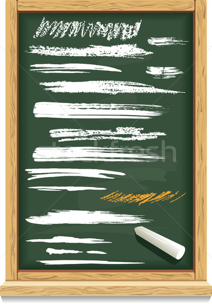 Brush strokes of chalk on a blackboard Stock photo © Wikki