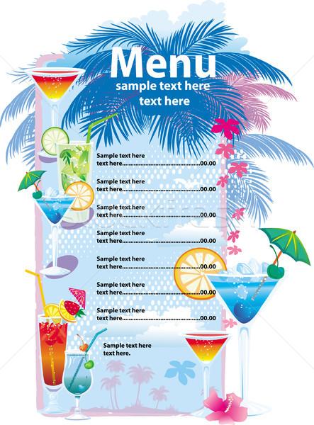 Template designs of cocktail menu Stock photo © Wikki
