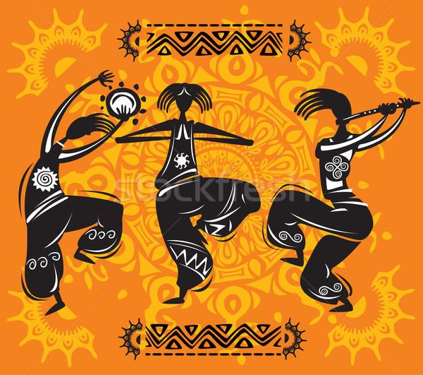Dans müzik dans kulüp siyah siluet Stok fotoğraf © Wikki
