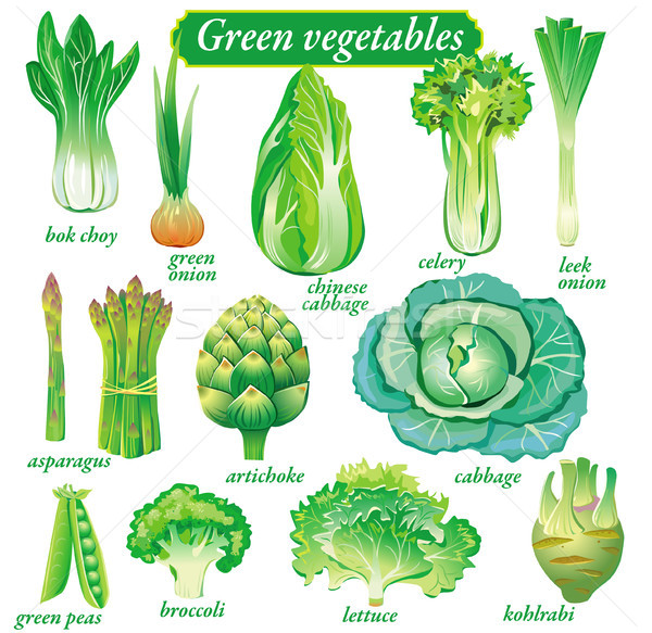 Groene groenten salade landbouw lifestyle dieet Stockfoto © Wikki