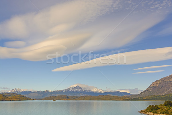 Nuvens alpino paisagem lago parque montanhas Foto stock © wildnerdpix