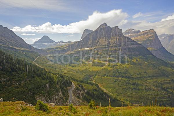 Néz hegy passz alpesi nyom felfelé néz Stock fotó © wildnerdpix