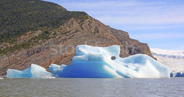 Színes jéghegy aktív gleccser szürke park Stock fotó © wildnerdpix