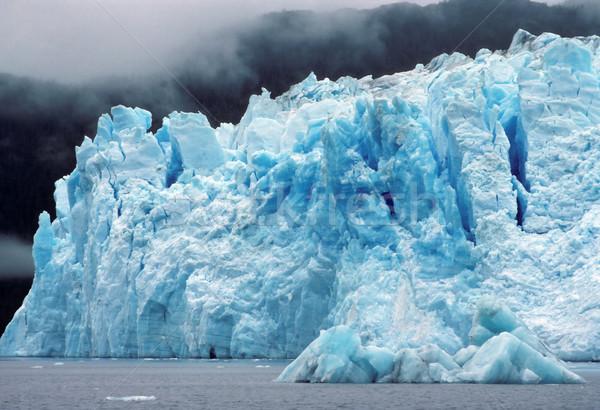 The Columbia Glacier in the fog Stock photo © wildnerdpix