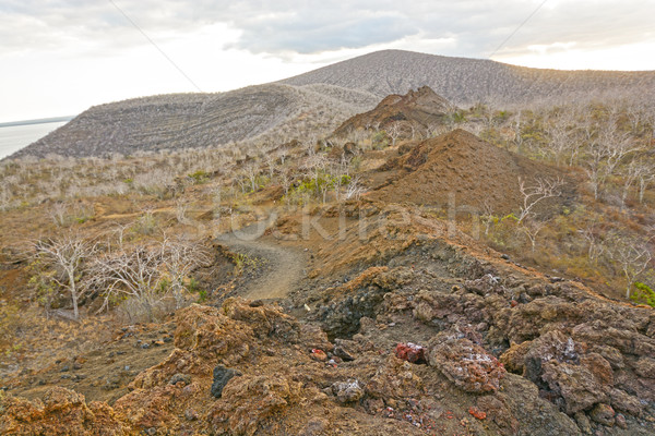 Stock photo: Spatter Cones on a Remote Volcanic Island