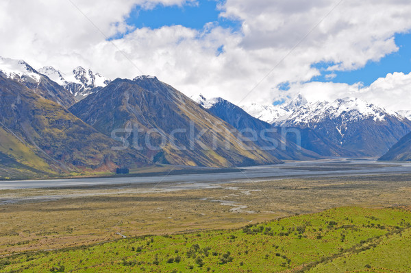 High Peaks across a glacial valley Stock photo © wildnerdpix