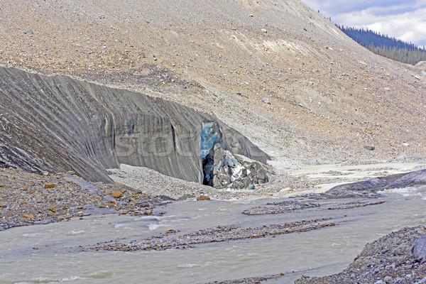 Kék jég gleccser arc lábujj távoli Stock fotó © wildnerdpix