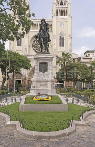 Statue of Simon Bolivar in Ecuador Stock photo © wildnerdpix