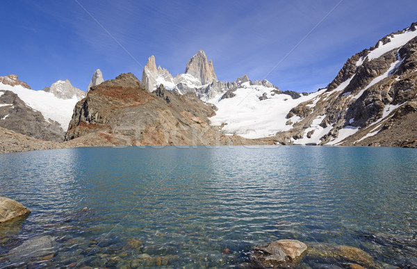 Majestic Peaks above an Alpine Lake Stock photo © wildnerdpix
