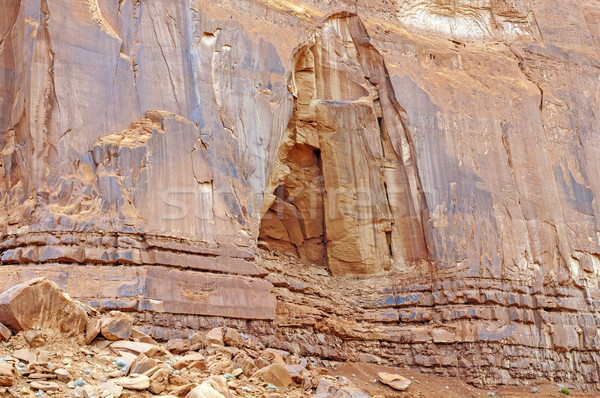 Massive Sandstone wall in the desert Stock photo © wildnerdpix
