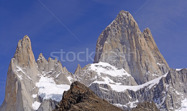 Dramatic Peaks Piercing a Blue Sky Stock photo © wildnerdpix