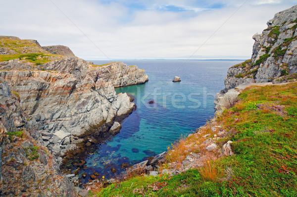Dramatyczny skał nowa fundlandia wybrzeża mad zdalnego Zdjęcia stock © wildnerdpix