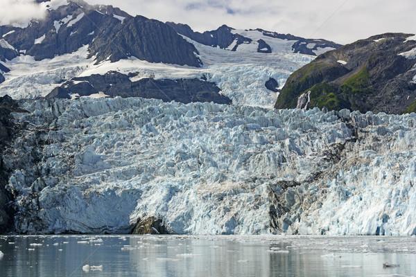 Gleccser napos idő meglepetés herceg hang Alaszka Stock fotó © wildnerdpix