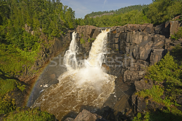 Rainbow by Spectacular Falls in the Summer Stock photo © wildnerdpix
