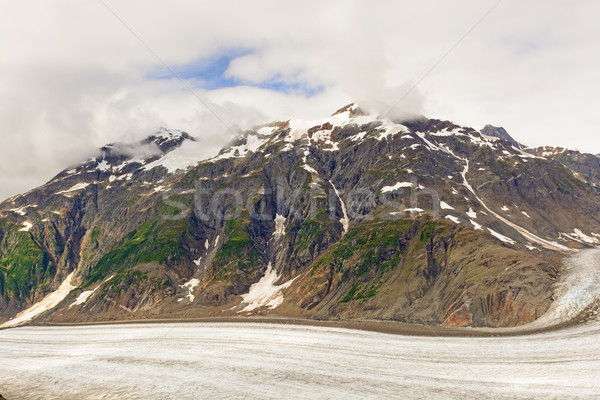 Snow Capped Moutain above an Alpine Glacier Stock photo © wildnerdpix