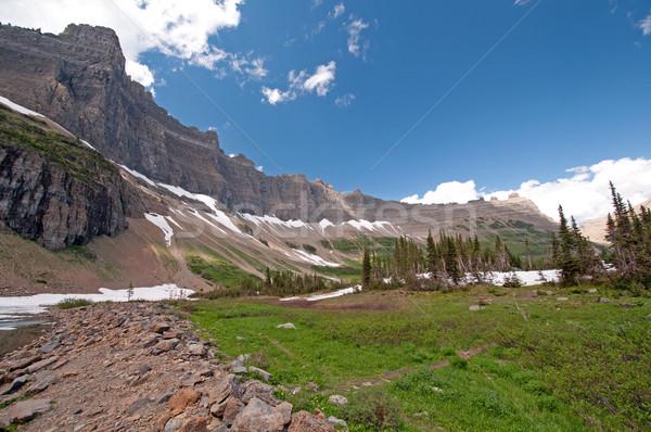 A glacial mountain ridge in summer Stock photo © wildnerdpix