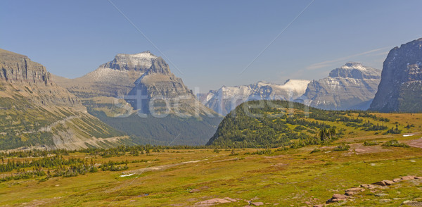 Mountain Peaks from a High Pass Stock photo © wildnerdpix