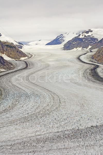 Alpine gletsjer zalm brits ijs Stockfoto © wildnerdpix