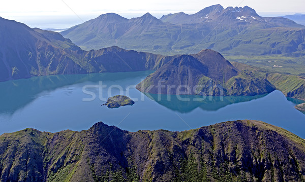 Volcanic Caldera Viewed from Above Stock photo © wildnerdpix