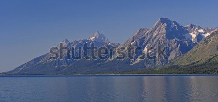 Dramatic Peaks across an Alpine Lake Stock photo © wildnerdpix