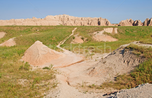 Trail into the Badlands Stock photo © wildnerdpix