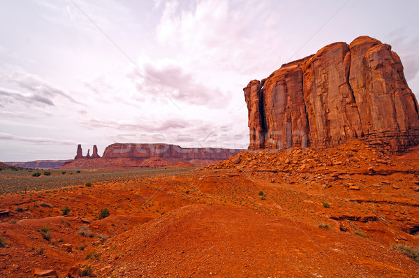 Spring Clouds over Red Rock Country Stock photo © wildnerdpix