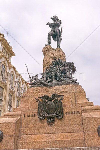 Statue of Antonio José de Sucre Stock photo © wildnerdpix