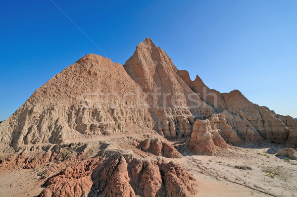 Badlands in the morning Stock photo © wildnerdpix