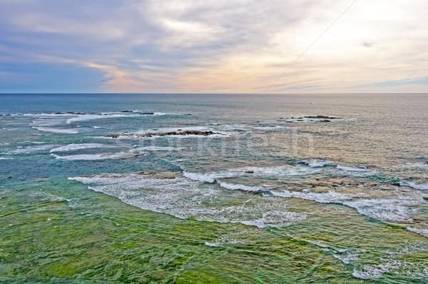 Okyanus sahil Yeni Zelanda sörf panorama Stok fotoğraf © wildnerdpix