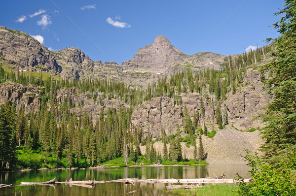 Spires over an Alpine Lake Stock photo © wildnerdpix